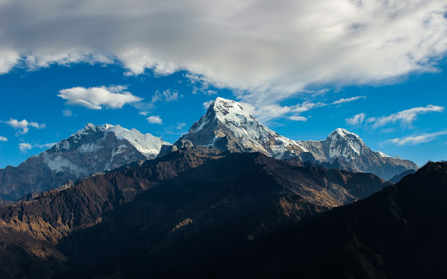 Nepal alone has 14 out of 20 mountains taller than 8000 meter