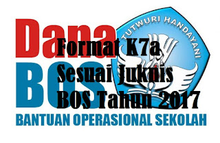 Format K7a Sesuai Juknis BOS Tahun 2017