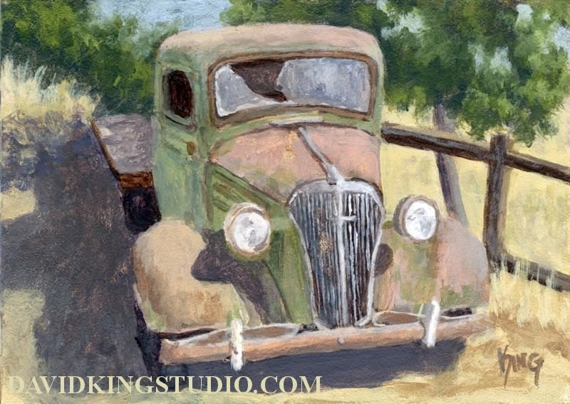 art painting truck abandoned old rust Chevy flatbed