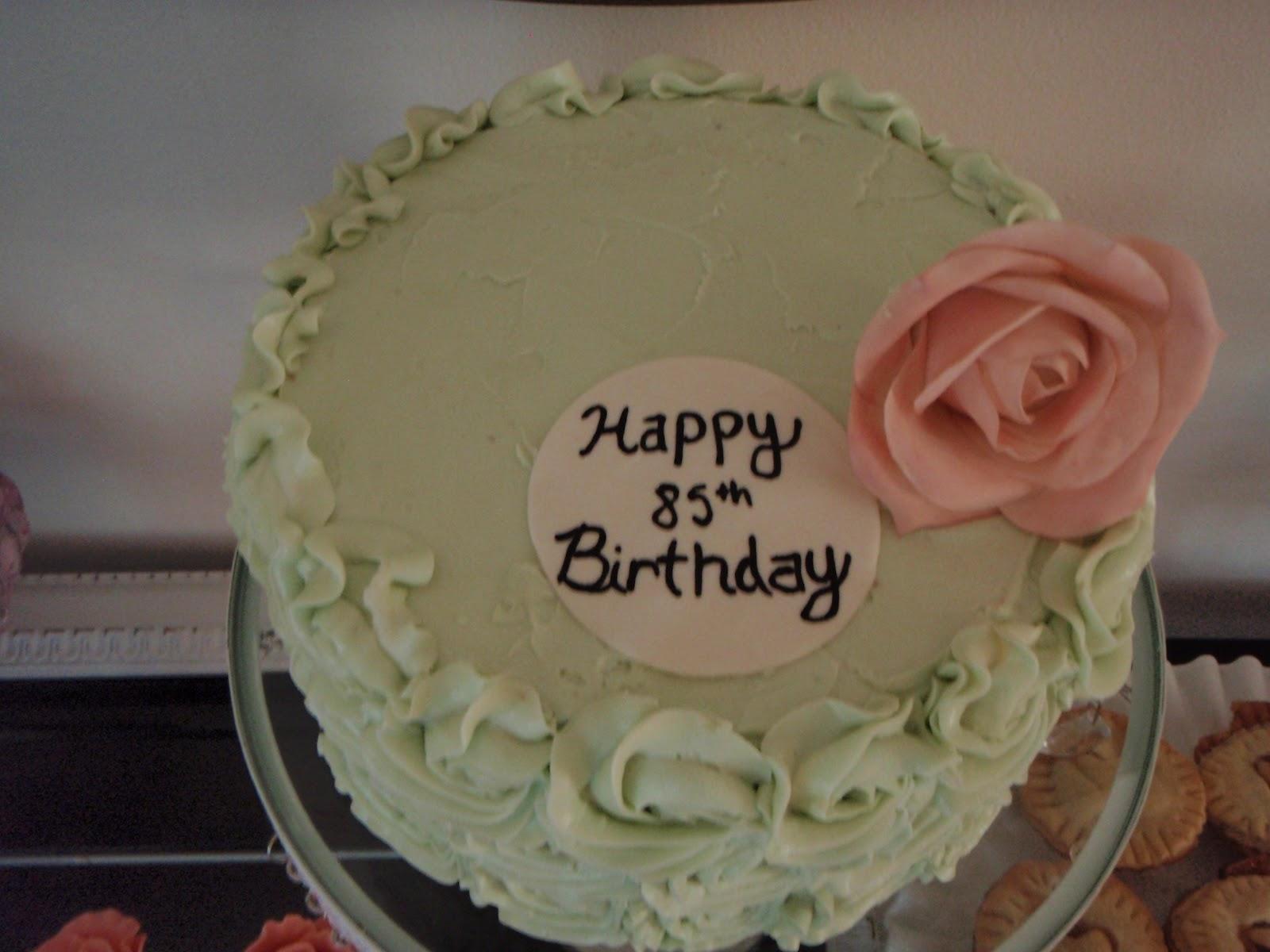 Sweet Eats Cakes Grandmas 85th Birthday