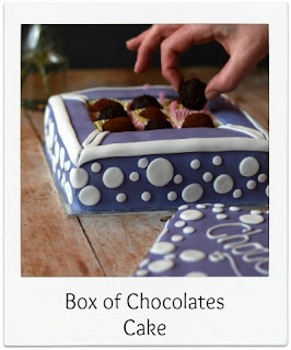 Perfect for special occassions, this Box of Chocolates Cake is shaped to resemble a box of chocolates!  It's made with a simple vanilla flavoured batter, sandwiched together with raspberry jam and buttercream and covered with white chocolate ganache and fondant before being filled with the all important homemade chocolate truffles!