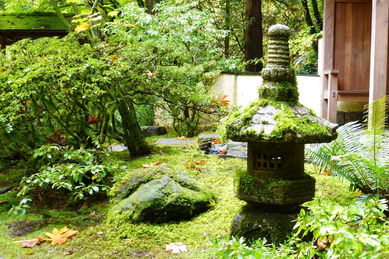 stone lantern Portland Japanese Garden