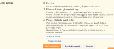 Come nascondere il tuo sito su blogger