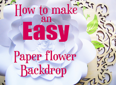 easy paper flower backdrop