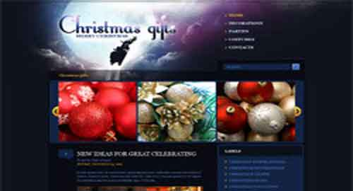 Christmas Gifts Blogger Template