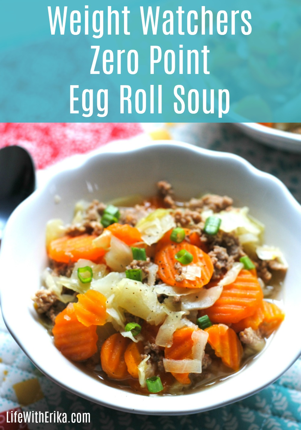 Life With Erika Weight Watchers Zero Point Egg Roll Soup