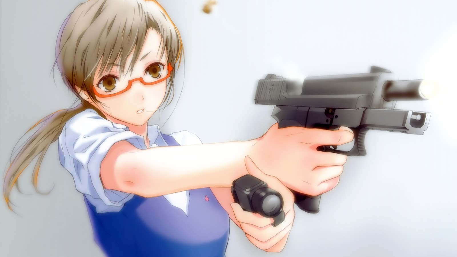 Anime Girl With Gun Wallpapers