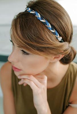 headband pas si sages bleu et beige