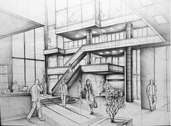 11-Office-Building-Atrium-Marlena-Kostrzewska-Interior-Design-and-Architecture-in-Pencil-Drawings-www-designstack-co