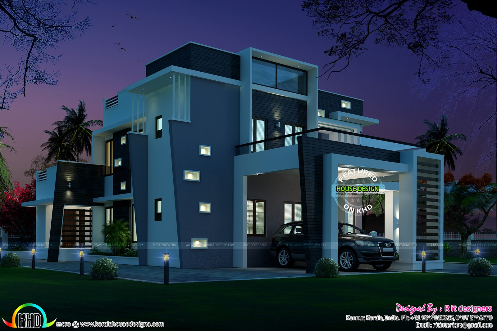 Very Stylish Contemporary Home Kerala Home Design And