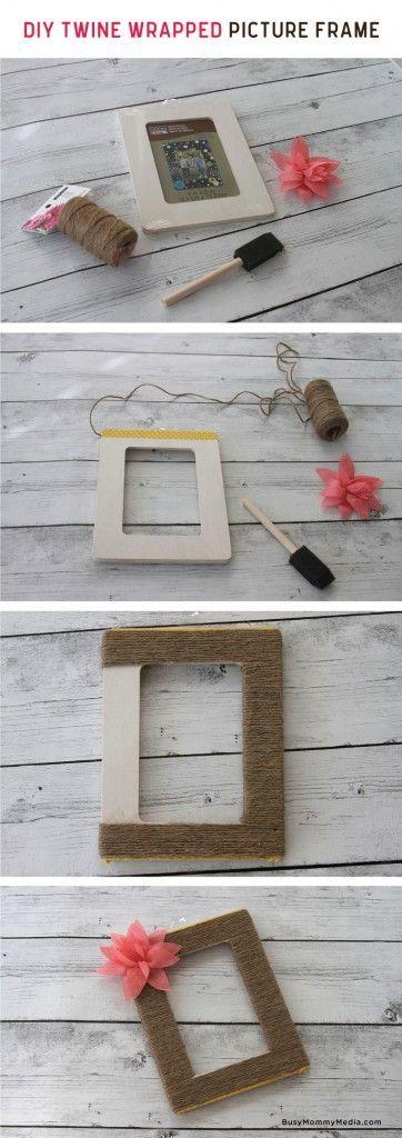 กรอบรูป DIY ตกแต่งด้วยเชือก
