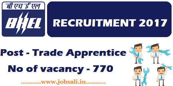 ITI Trade apprentice new vacancy, BHEL Careers, ITI Apprentice Notification