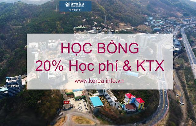Vừa học vừa làm với học bổng 20% học phí và KTX tại đại học Masan Hàn Quốc
