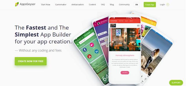 Cara Mudah Membuat Game atau Aplikasi Android di Appsgeyser