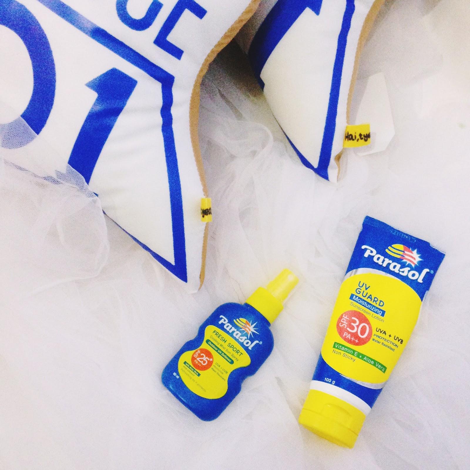 Review Parasol Suncreen Lotion Sun Spray Tyeaan Aku Biasanya Pakai Base Makeup Dari Dan Foundation Campur Sedikit Agar Lebih Maximal Meskipun Di Pelembab