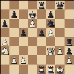 Partida de ajedrez Ponce-Ridameya, posición después de 23.d6!
