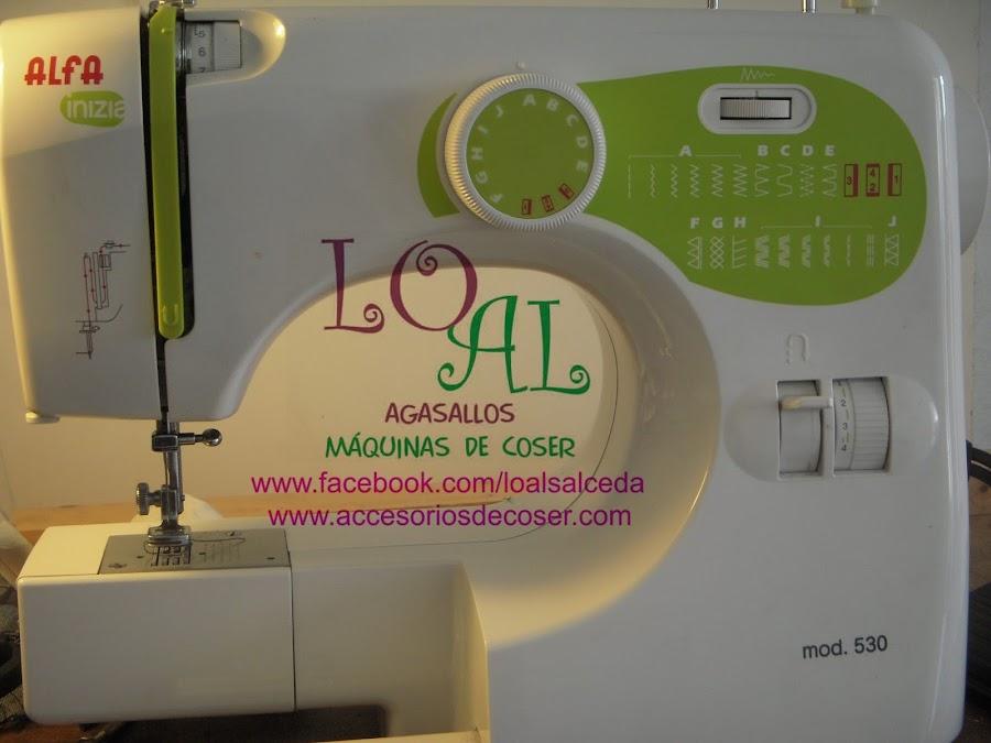 alfa 530 inizia maquina de coser