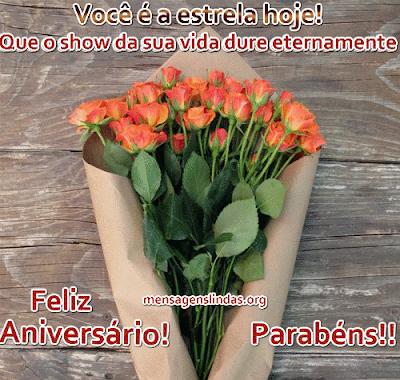 mensagem para aniversario linda