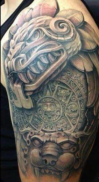 Los Mejores Tatuajes Aztecas Y Mayas Con Significado Completo Y Real