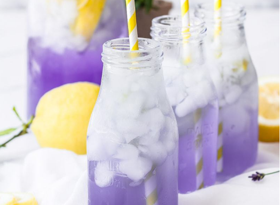 Sparkling Lavender Lemonade #drinks #recipe