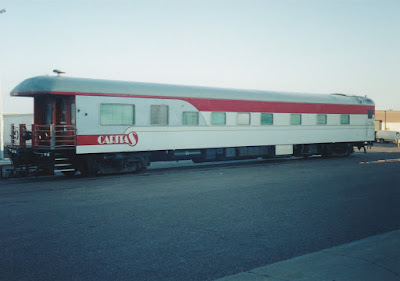 Private Passenger Car Caritas at Midway Station in St. Paul, Minnesota, on July 25, 1999