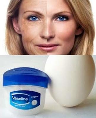 Elimina las arrugas con un huevo y vaselina