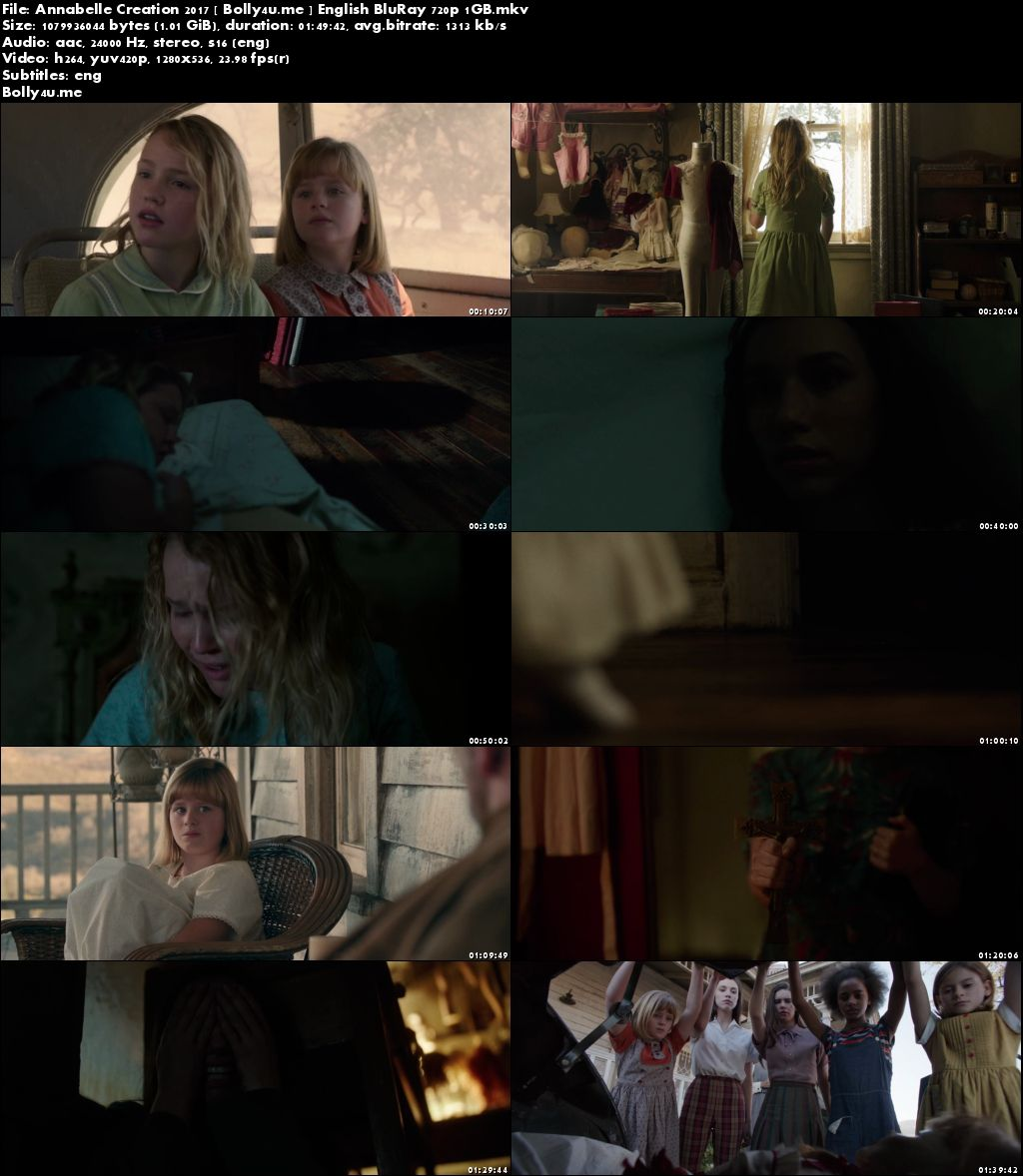 Annabelle Creation 2017 BluRay 1Gb Full English Movie Download 720p