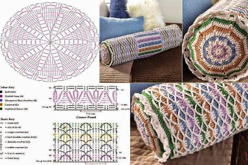 Almohadón con forma de cilindro / patrones crochet | Crochet y Dos ...