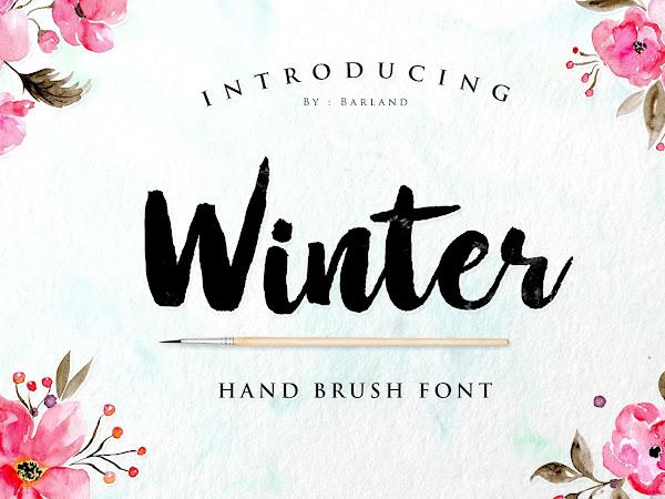 Download Winter Brush Font Free