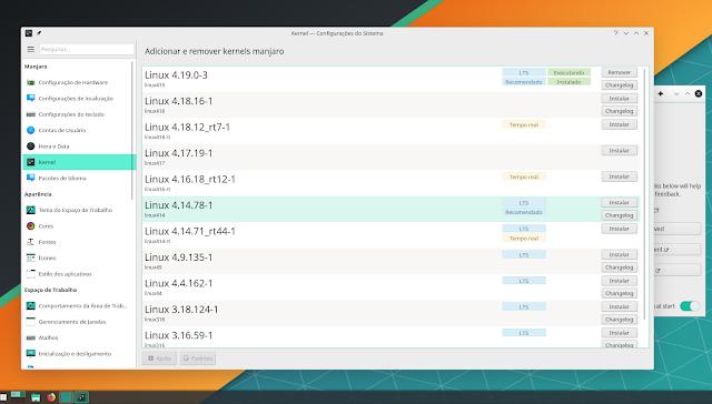 Manjaro KDE Pĺasma