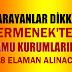 218 İŞKUR ELAMANI ALINACAK