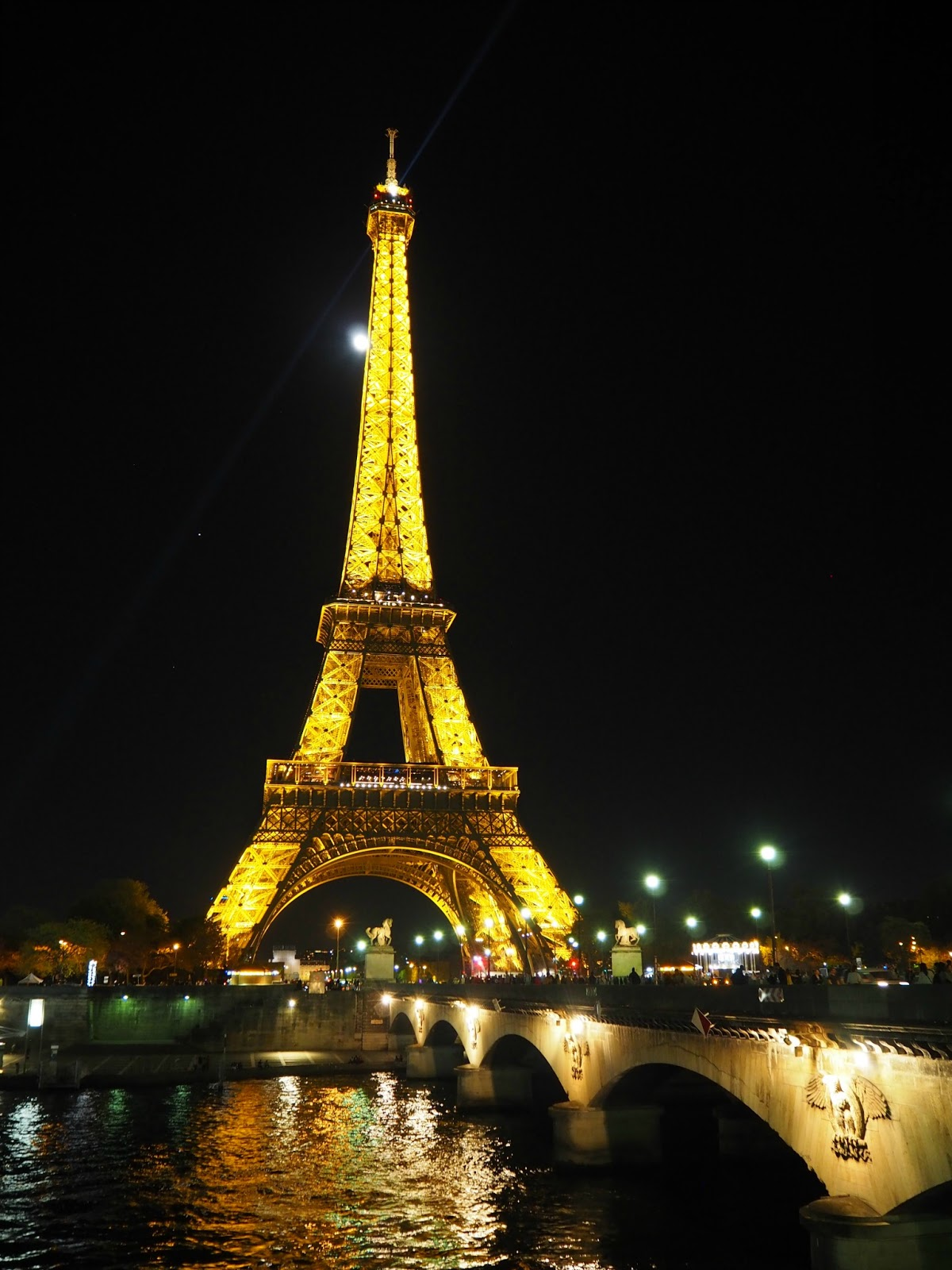 Eiffel Tower at night Paris