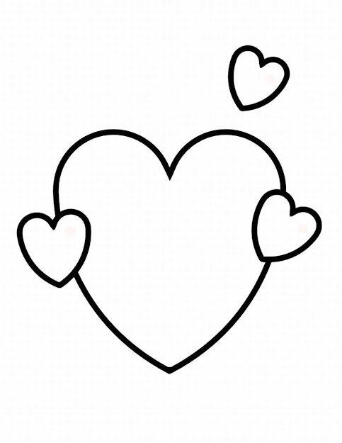 Hearts With Wings Coloring Pages Clip Art