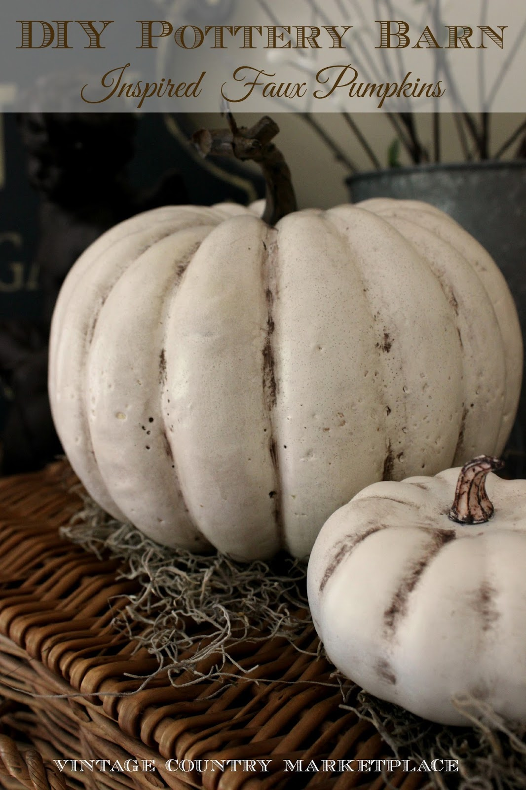 Vintage Country Style Pottery Barn Pumpkin Hack
