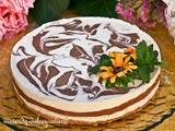 Tarta Marmolada de Queso con Chocolate y Almendras