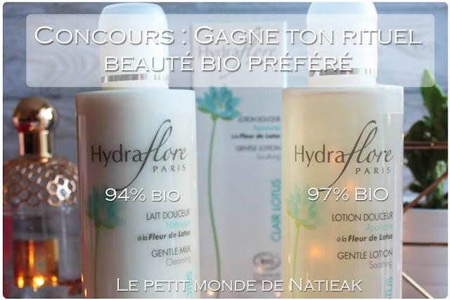 Lait douceur et lotion apaisante douceur Hydraflore