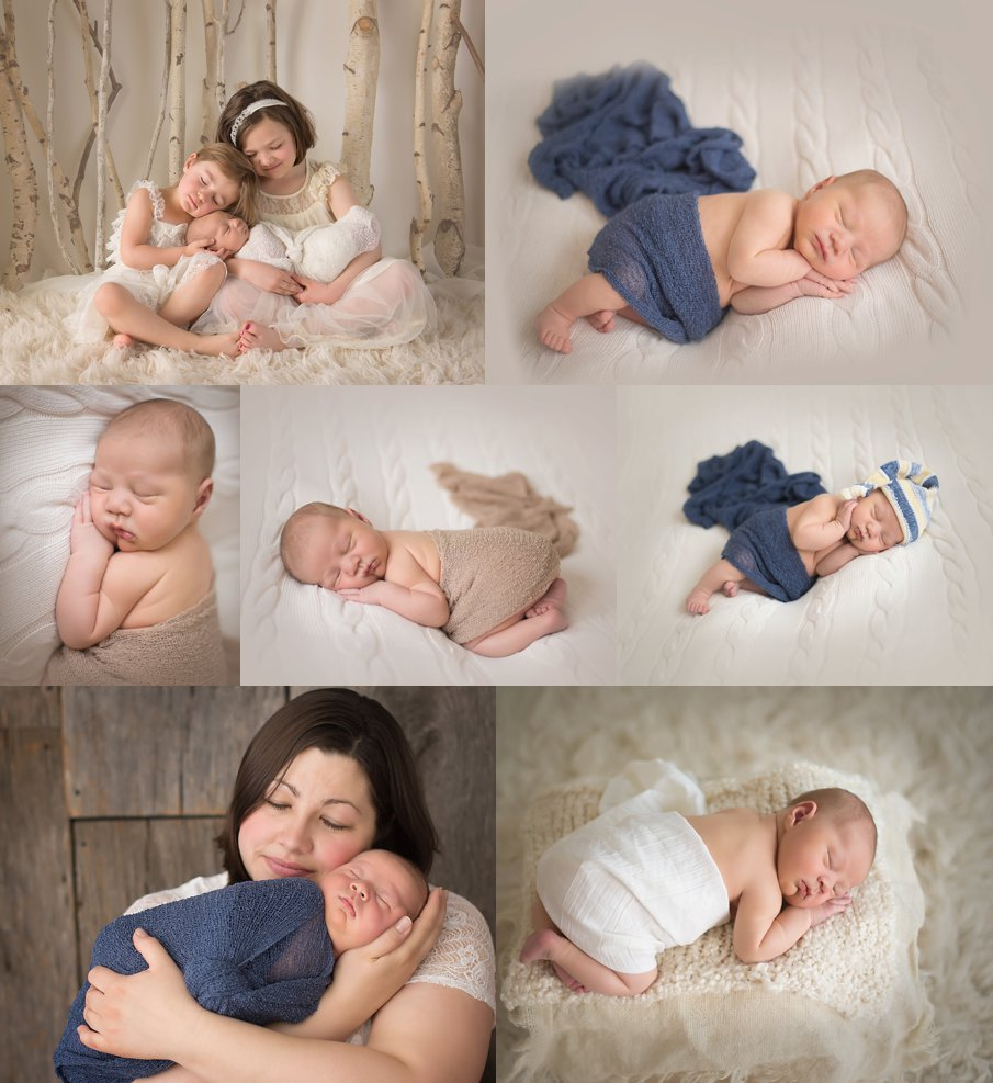 Newborn baby boy studio photos from Sycamore IL