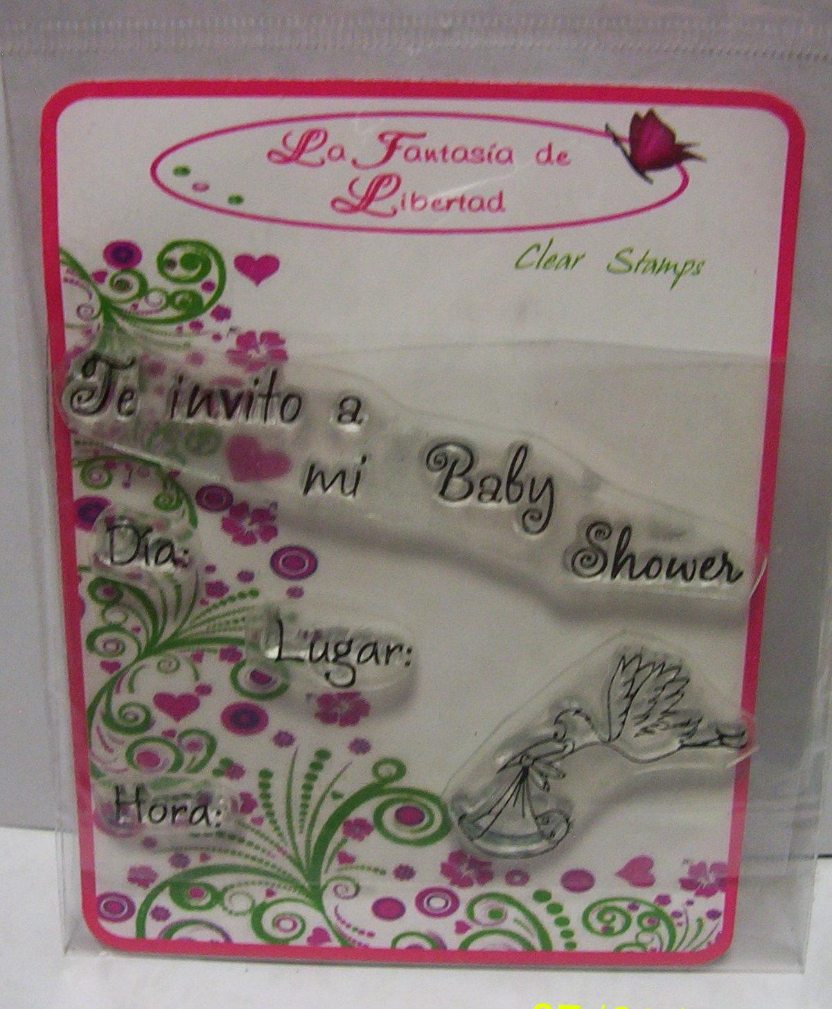 4650dbb23 ... Fantasia Baby Shower  La Fantasía De Libertad Clear Stamps  Baby Shower