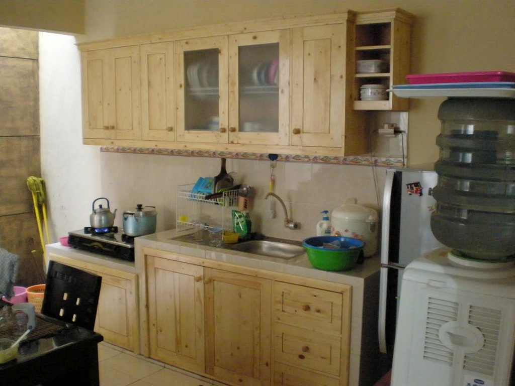 kitchen set kayu jati belanda 1
