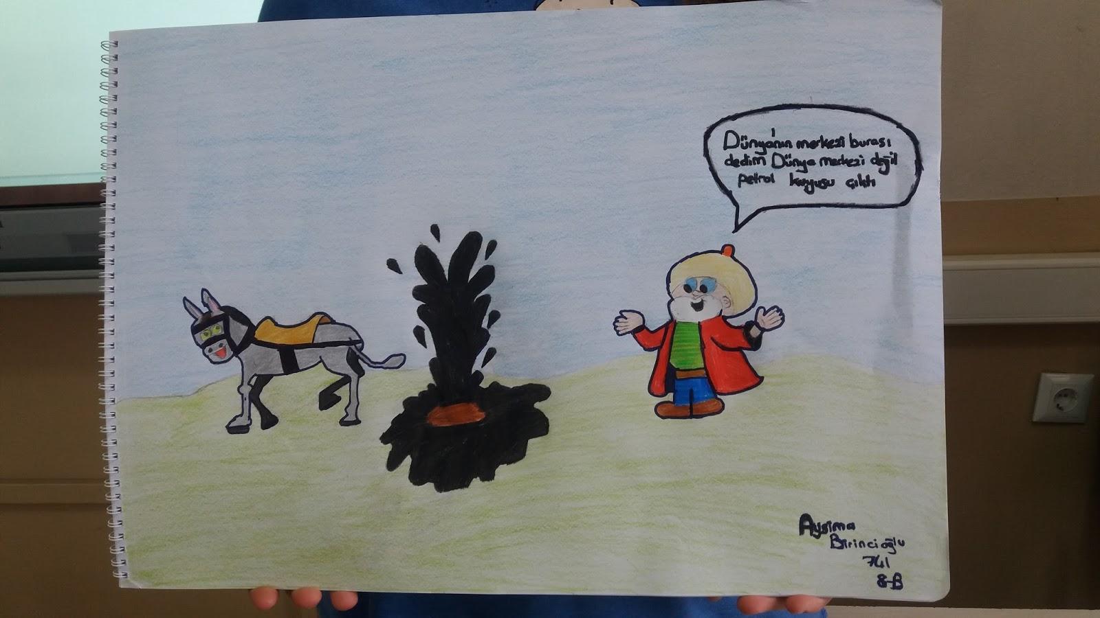 Madanoğlu Görsel Sanatlar 8sınıf Fıkra Karikatürü