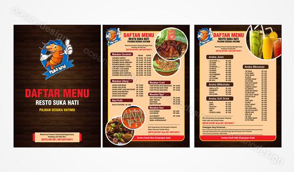 Desain menu resto suka hati jasa desain grafis jogja for Z kitchen jogja menu