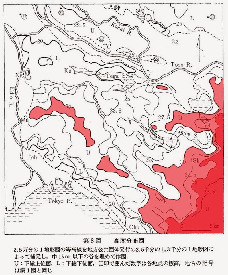 花見川流域を歩く HANAMIGAWA RYUIKI wo ARUKU: 2つの隆起軸の影響圏
