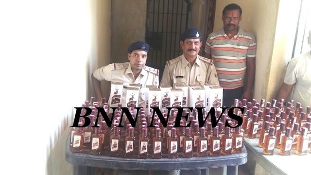 साहरघाट से पुलिस ने बरामद किए 320 बोतल शराब, कारोबारी फरार