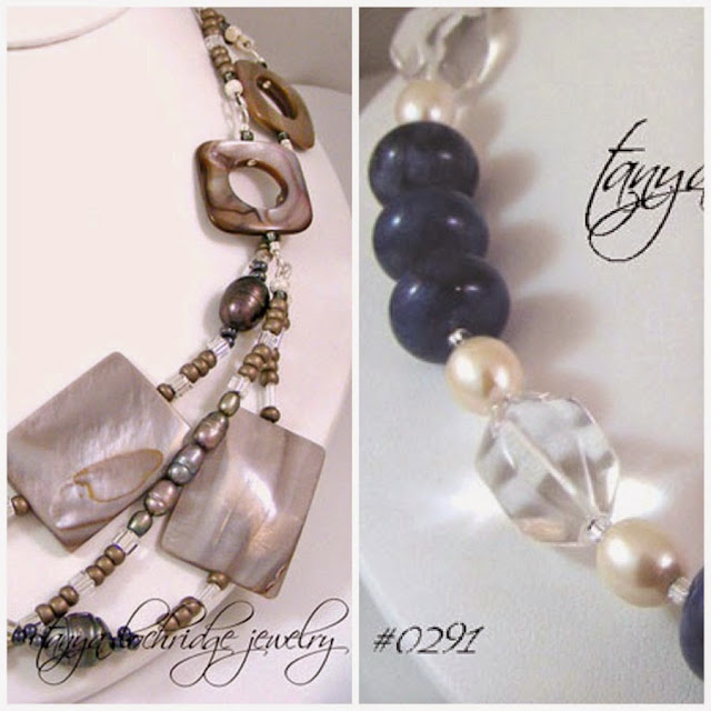 Tanya Lochridge Jewelry Sodalite, Crystal Quartz & Pearl Gemstone Necklace
