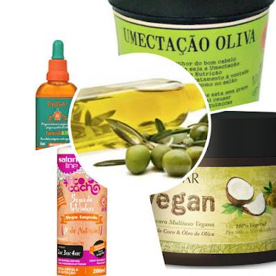 produtos low poo com azeite oliva