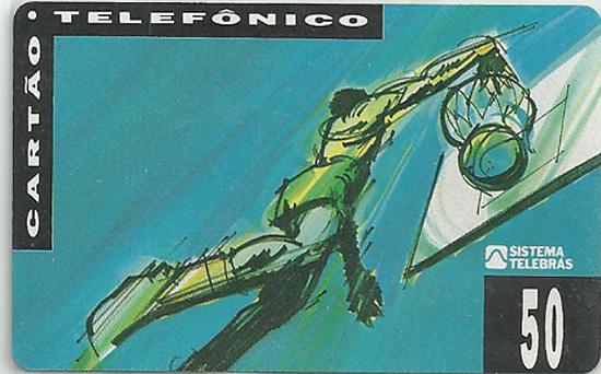 Cartão telefônico - Telesp - Basquete