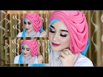 tutorial hijab segi empat pesta pernikahan