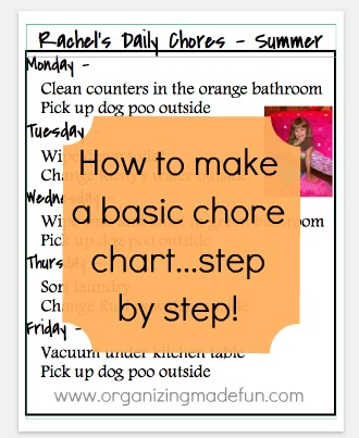 How to make a simple chore chart step by step Organizing Made Fun