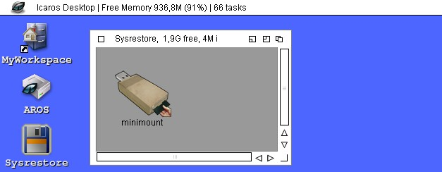MiniMount for The C64 Mini - Icaros Desktop