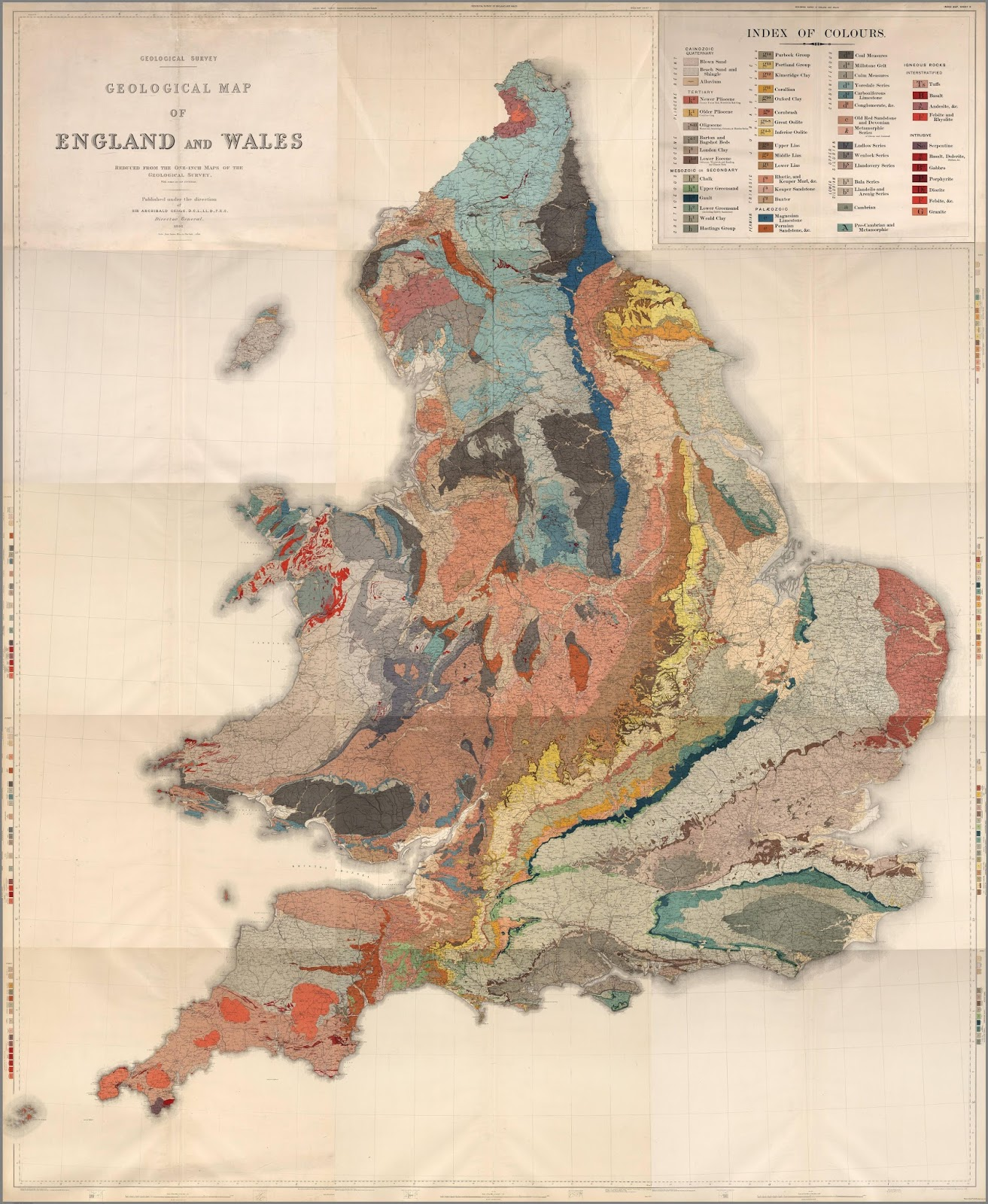 Geological Map of England and Wales (1896)